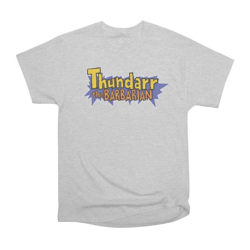 Thundarr The Barbarian - Cartoon Logo Women's Heavyweight Unisex T-Shirt by 21 Squirrels Brewery Shop
