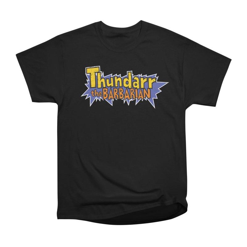 Thundarr The Barbarian - Cartoon Logo Men's Heavyweight T-Shirt by 21 Squirrels Brewery Shop
