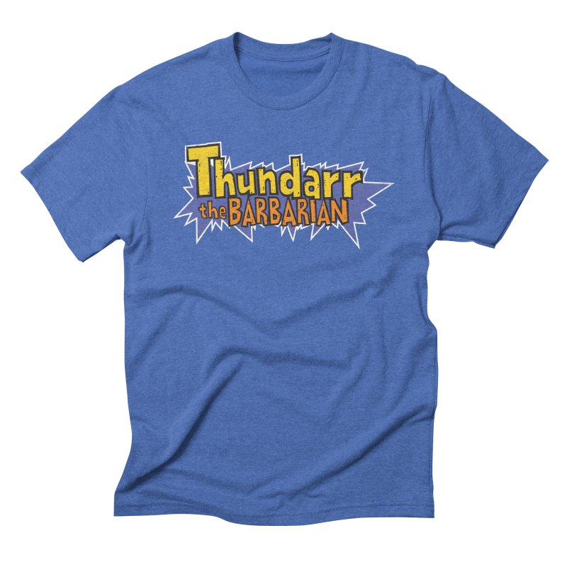 Thundarr The Barbarian - Cartoon Logo Men's Triblend T-Shirt by 21 Squirrels Brewery Shop