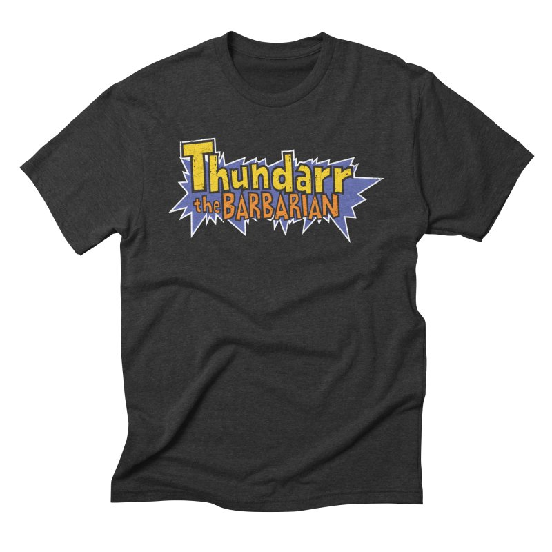 Thundarr The Barbarian - Cartoon Logo Men's Triblend T-Shirt by 21 Squirrels Brewery Shop