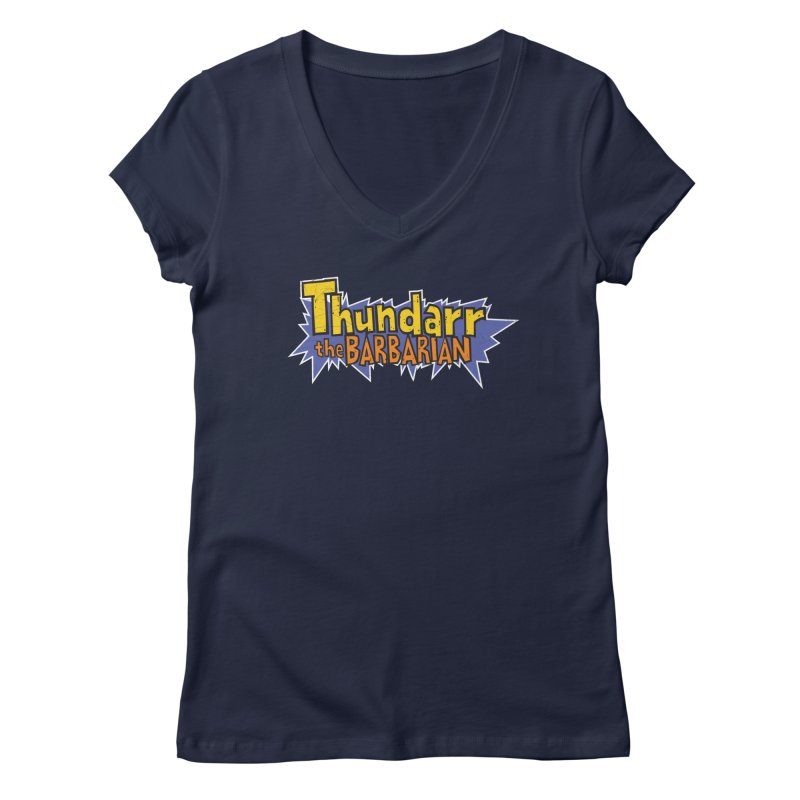 Thundarr The Barbarian - Cartoon Logo Women's V-Neck by 21 Squirrels Brewery Shop