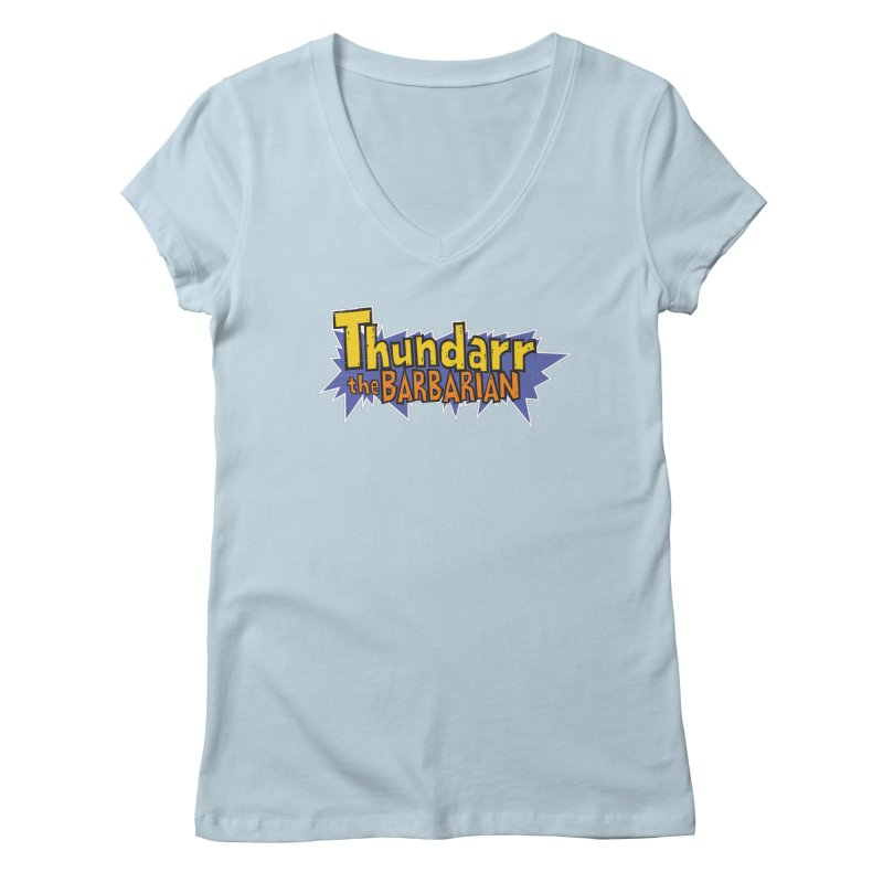 Thundarr The Barbarian - Cartoon Logo Women's V-Neck by 21 Squirrels Brewery Shop