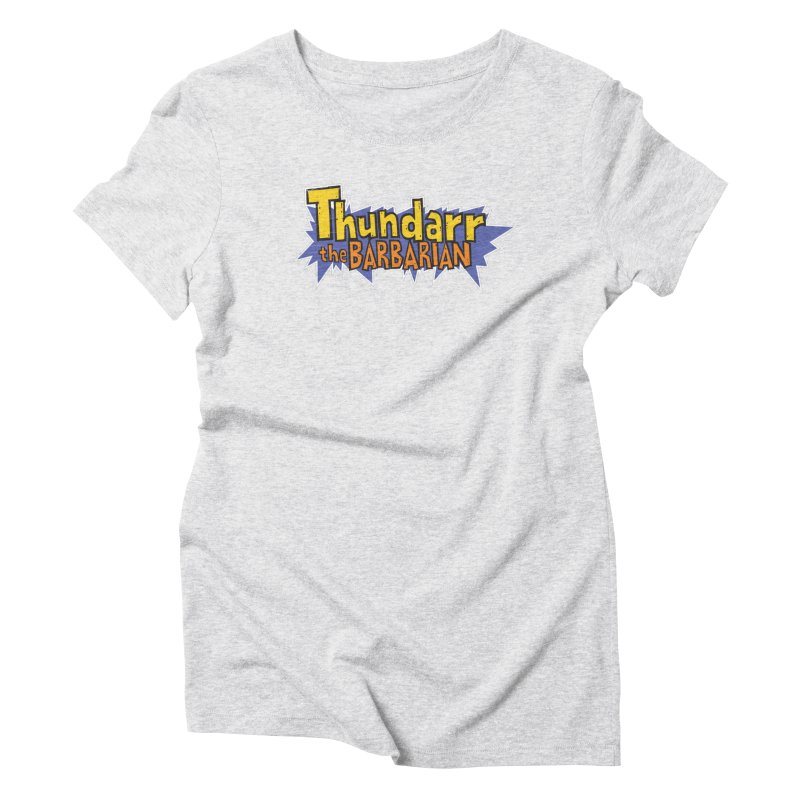 Thundarr The Barbarian - Cartoon Logo Women's Triblend T-Shirt by 21 Squirrels Brewery Shop