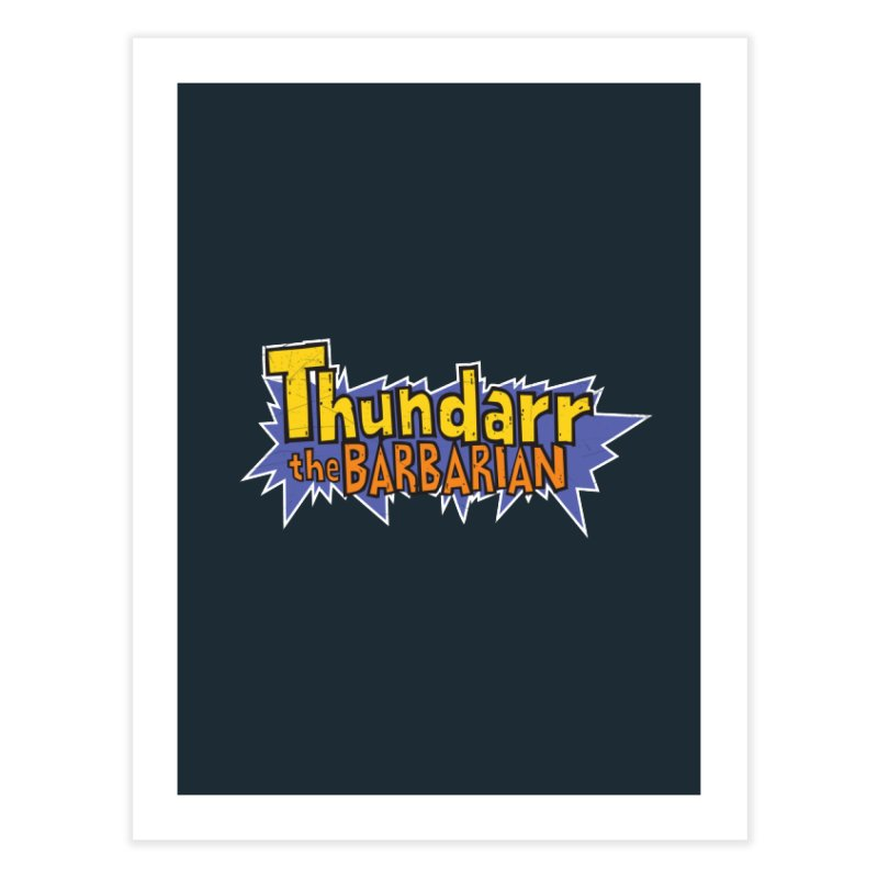 Thundarr The Barbarian - Cartoon Logo Home Bath Mat by 21 Squirrels Brewery Shop