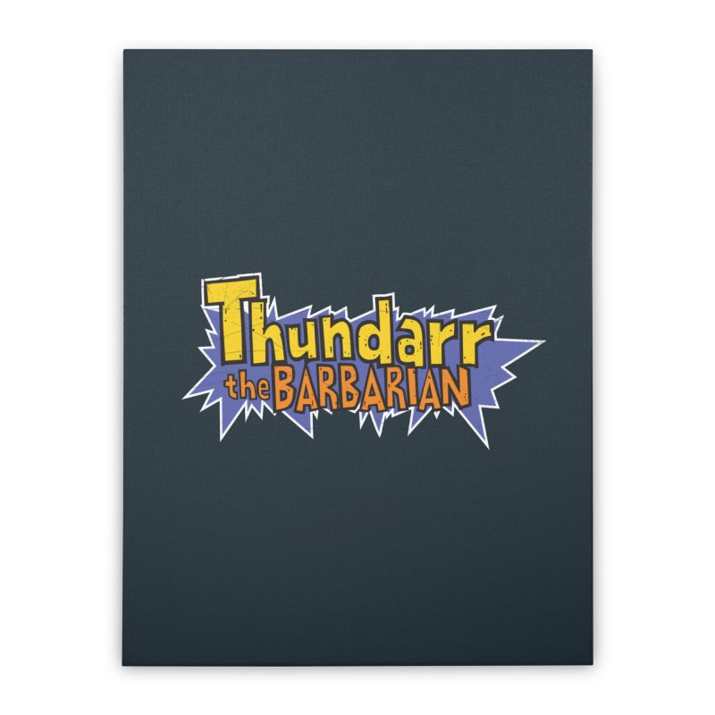 Thundarr The Barbarian - Cartoon Logo Home Stretched Canvas by 21 Squirrels Brewery Shop