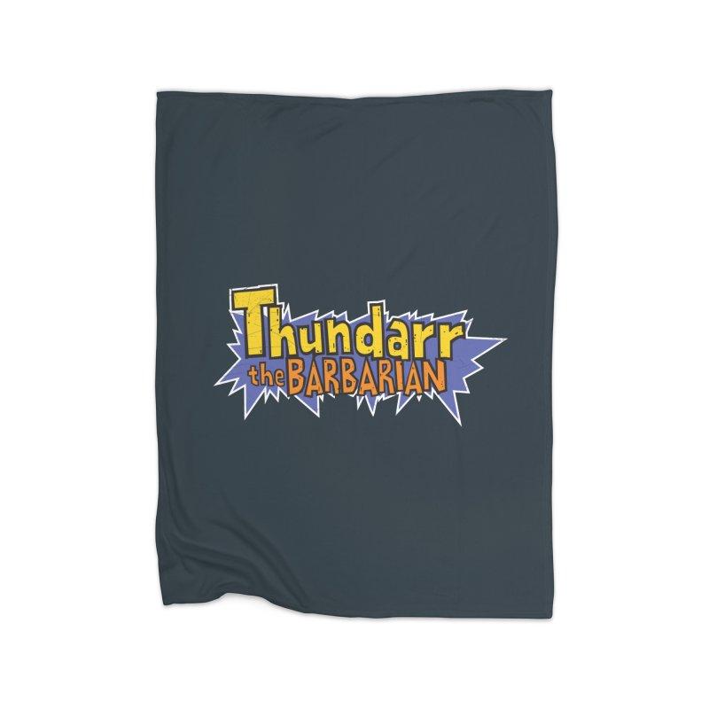 Thundarr The Barbarian - Cartoon Logo Home Blanket by 21 Squirrels Brewery Shop