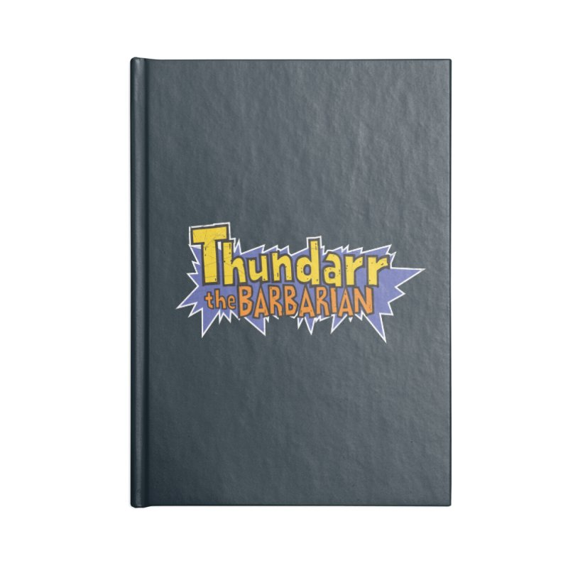 Thundarr The Barbarian - Cartoon Logo Accessories Notebook by 21 Squirrels Brewery Shop