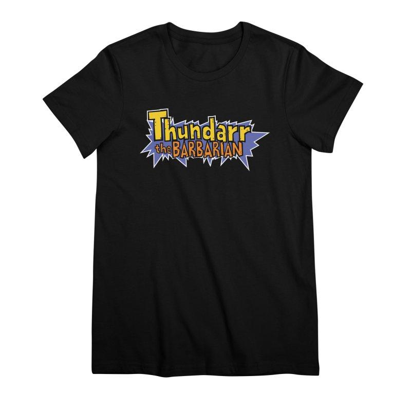 Thundarr The Barbarian - Cartoon Logo Women's Premium T-Shirt by 21 Squirrels Brewery Shop