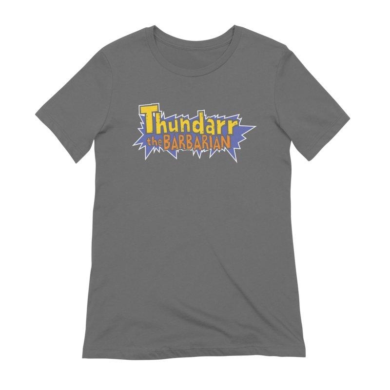 Thundarr The Barbarian - Cartoon Logo Women's Extra Soft T-Shirt by 21 Squirrels Brewery Shop