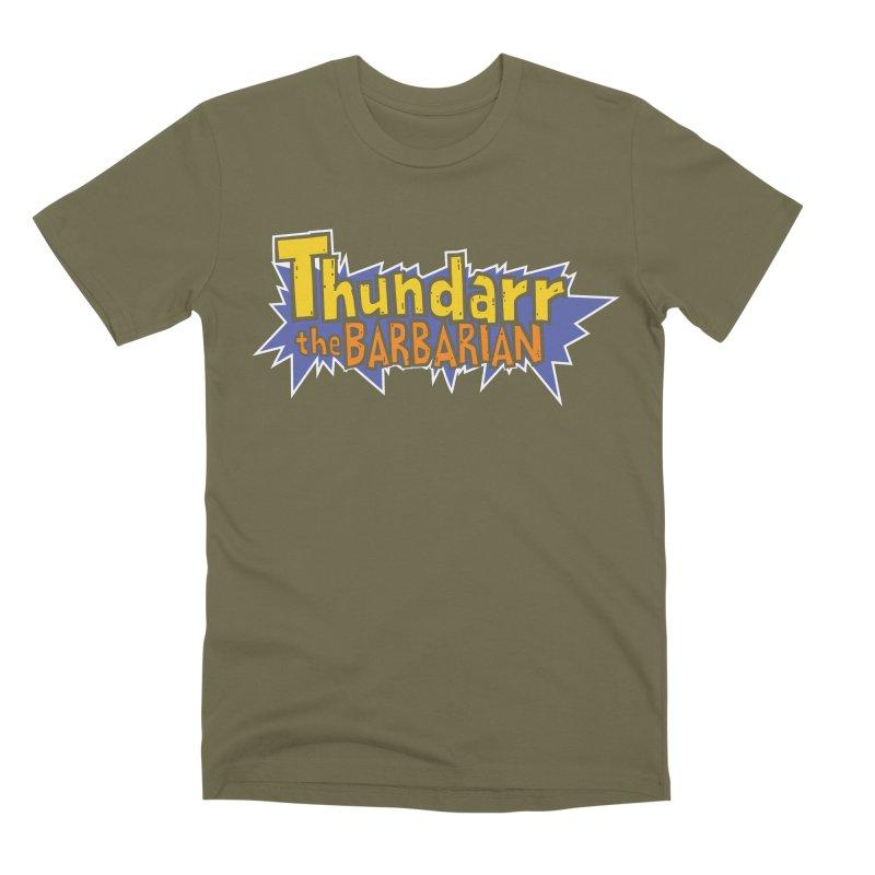 Thundarr The Barbarian - Cartoon Logo Men's Premium T-Shirt by 21 Squirrels Brewery Shop