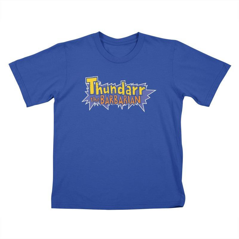 Thundarr The Barbarian - Cartoon Logo Kids T-Shirt by 21 Squirrels Brewery Shop