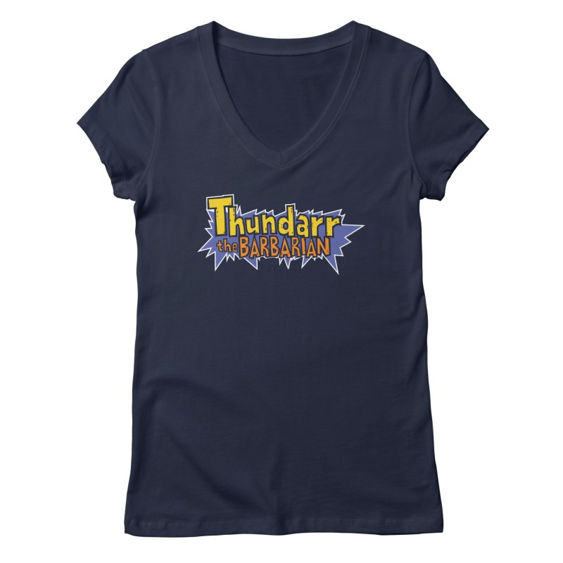 Thundarr The Barbarian - Cartoon Logo Women's Regular V-Neck by 21 Squirrels Brewery Shop