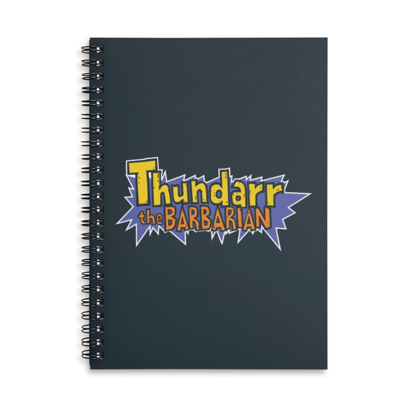 Thundarr The Barbarian - Cartoon Logo Accessories Lined Spiral Notebook by 21 Squirrels Brewery Shop