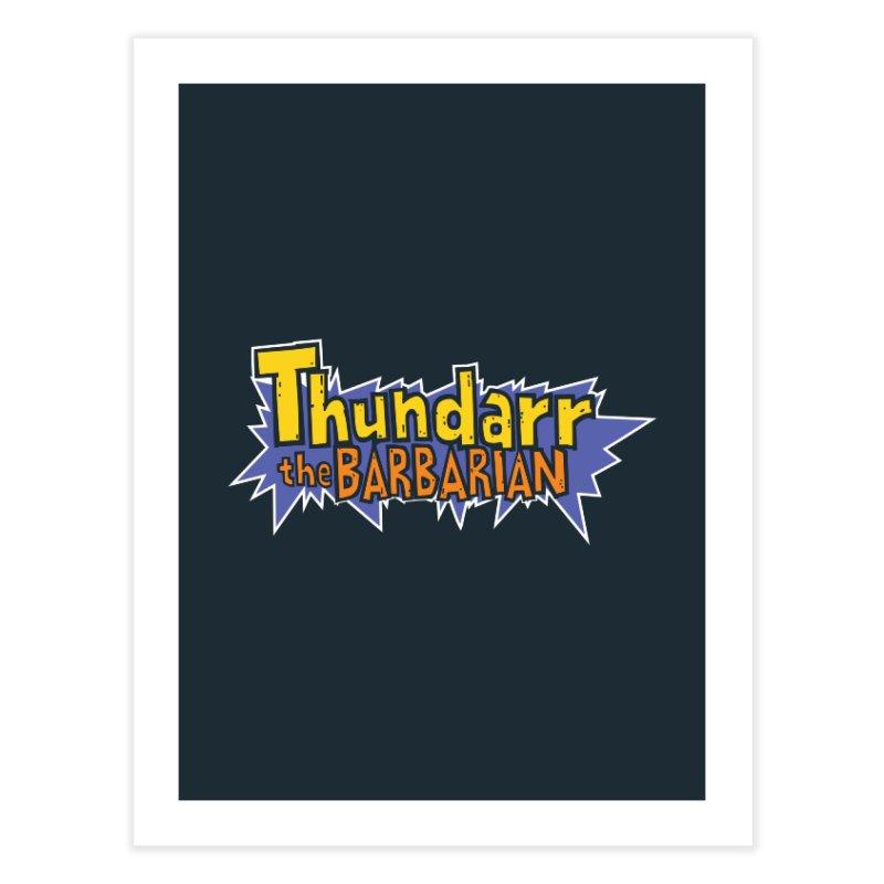 Thundarr The Barbarian - Cartoon Logo Home Fine Art Print by 21 Squirrels Brewery Shop