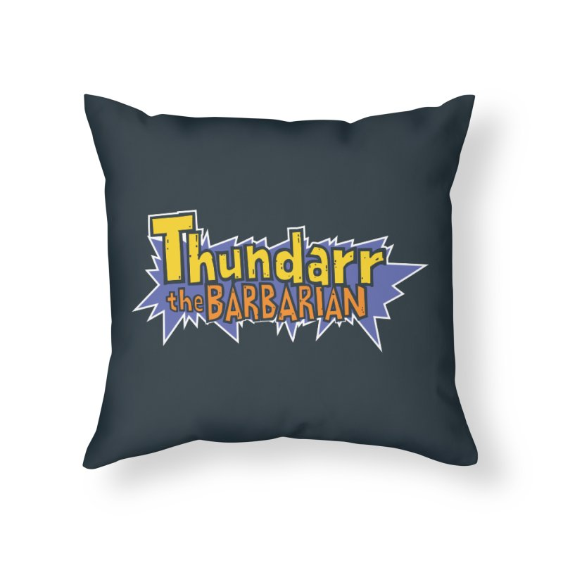 Thundarr The Barbarian - Cartoon Logo Home Throw Pillow by 21 Squirrels Brewery Shop