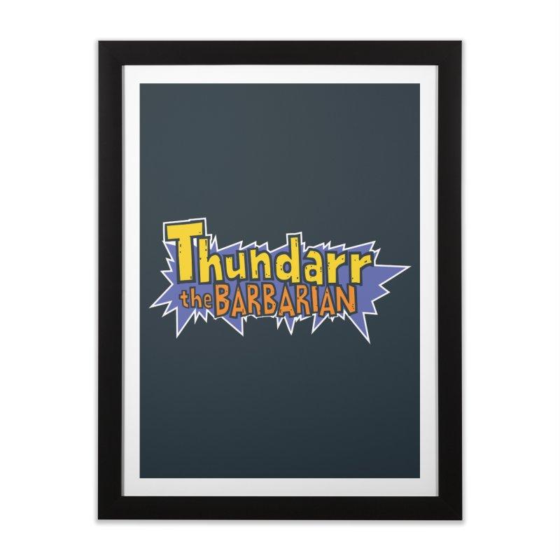 Thundarr The Barbarian - Cartoon Logo Home Framed Fine Art Print by 21 Squirrels Brewery Shop