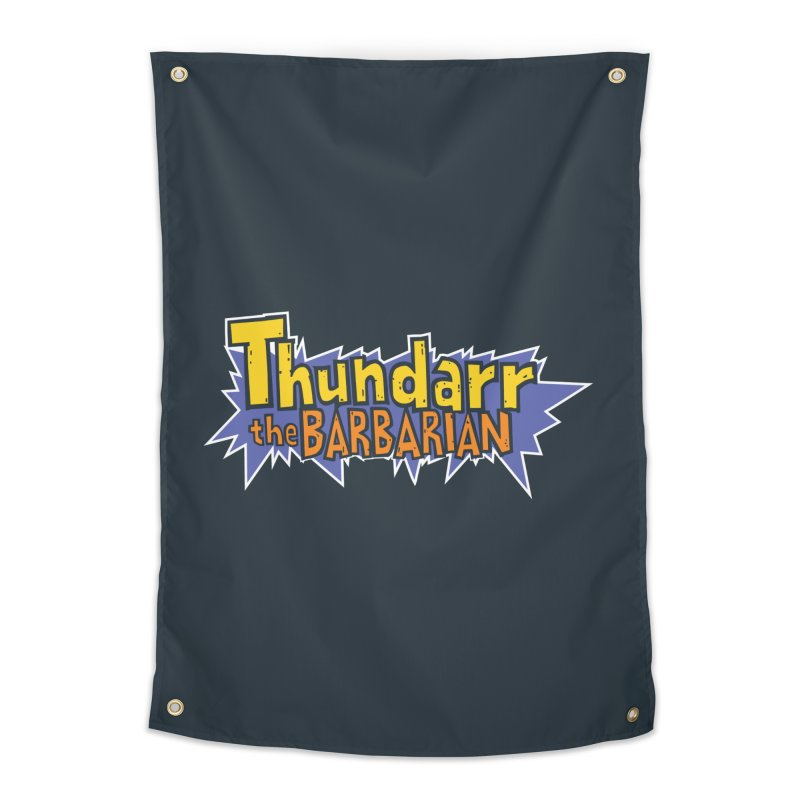 Thundarr The Barbarian - Cartoon Logo Home Tapestry by 21 Squirrels Brewery Shop