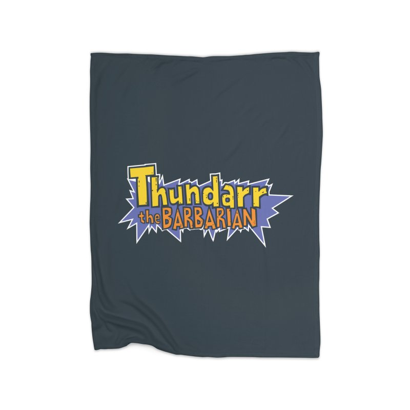 Thundarr The Barbarian - Cartoon Logo Home Fleece Blanket Blanket by 21 Squirrels Brewery Shop