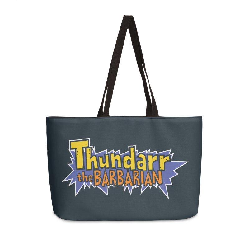 Thundarr The Barbarian - Cartoon Logo Accessories Weekender Bag Bag by 21 Squirrels Brewery Shop