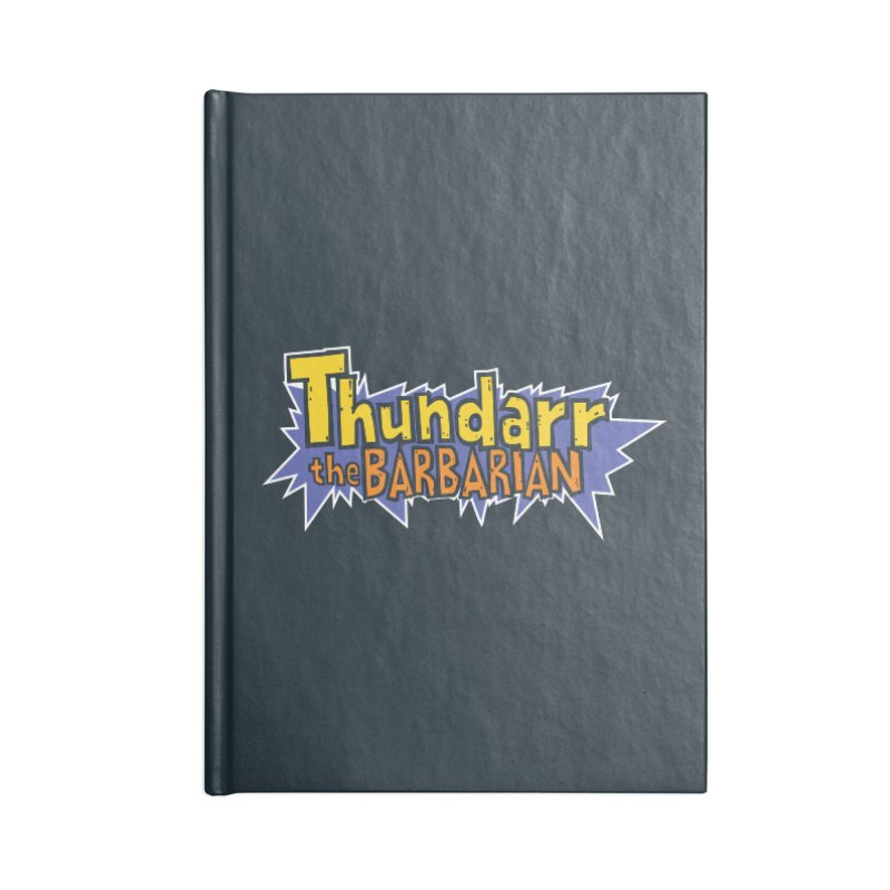 Thundarr The Barbarian - Cartoon Logo Accessories Lined Journal Notebook by 21 Squirrels Brewery Shop