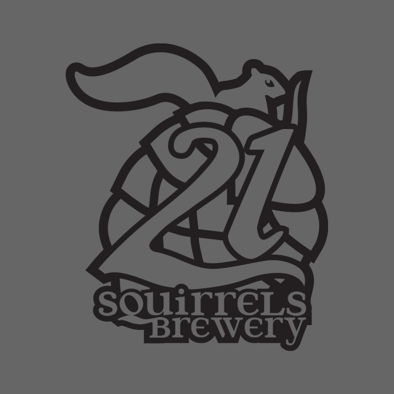 21 Squirrels Brewery Logo - Dark by 21 Squirrels Brewery Shop