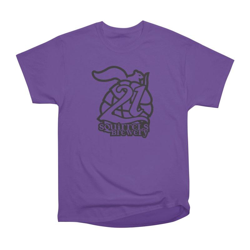 21 Squirrels Brewery Logo - Dark Women's Heavyweight Unisex T-Shirt by 21 Squirrels Brewery Shop