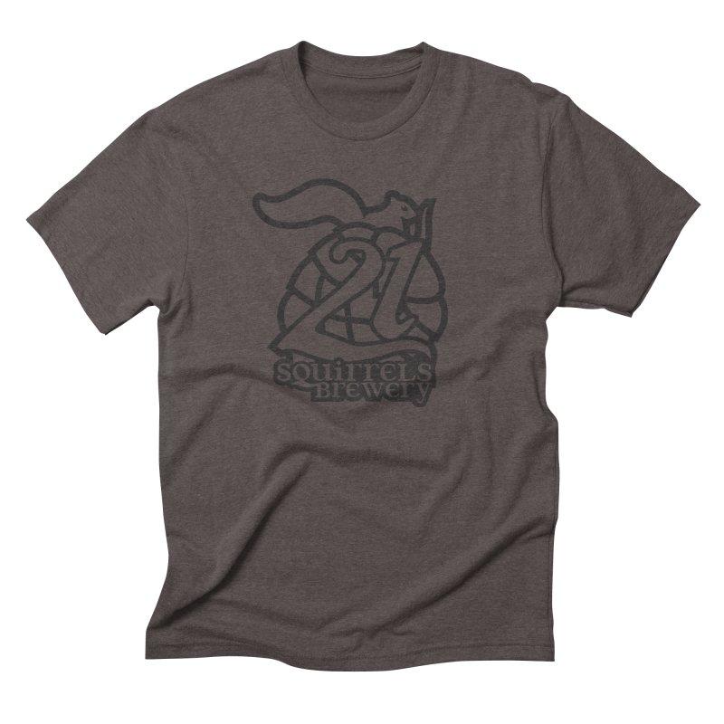 21 Squirrels Brewery Logo - Dark Men's Triblend T-Shirt by 21 Squirrels Brewery Shop