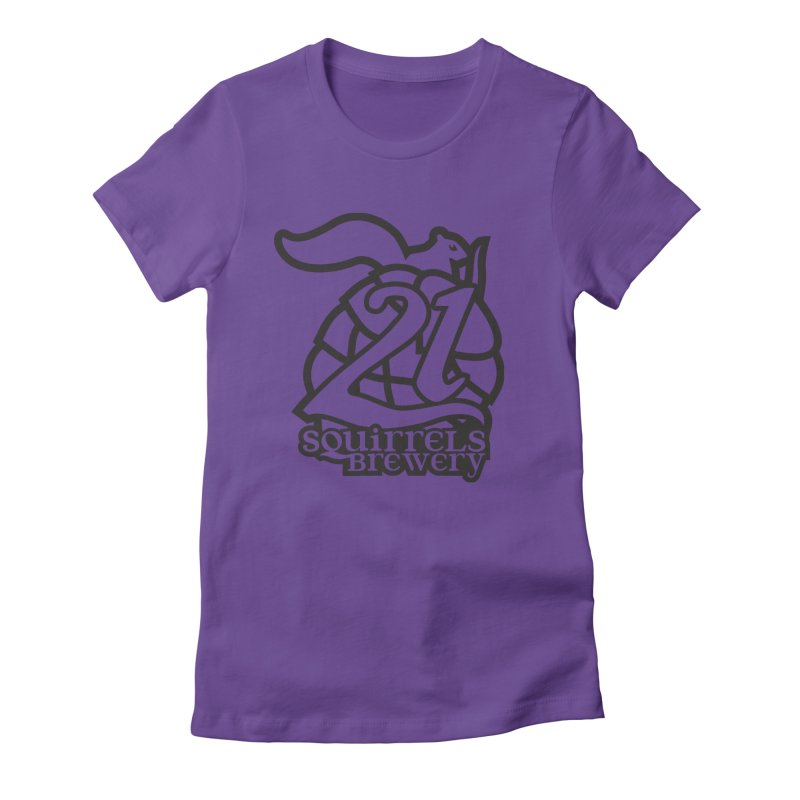 21 Squirrels Brewery Logo - Dark Women's Fitted T-Shirt by 21 Squirrels Brewery Shop
