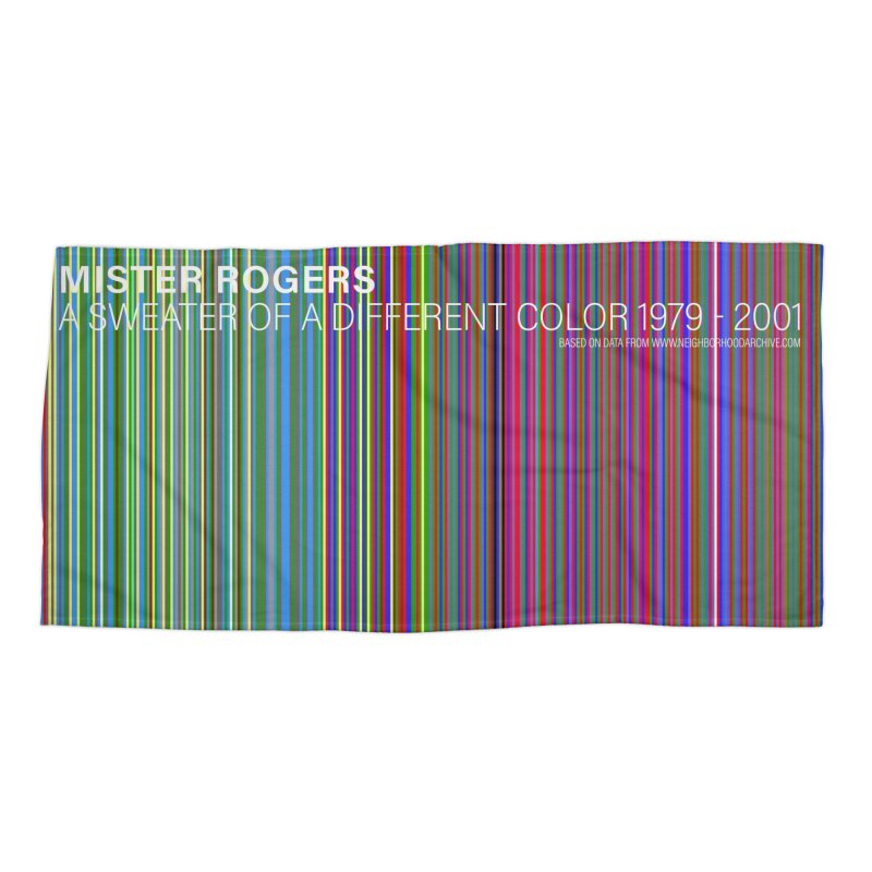 Mister Rogers Sweater Color Art - websafe Accessories Beach Towel by 21 Squirrels Brewery Shop