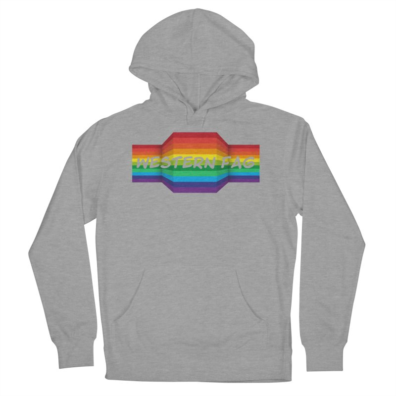 Western Fag Men's French Terry Pullover Hoody by 21 Squirrels Brewery Shop