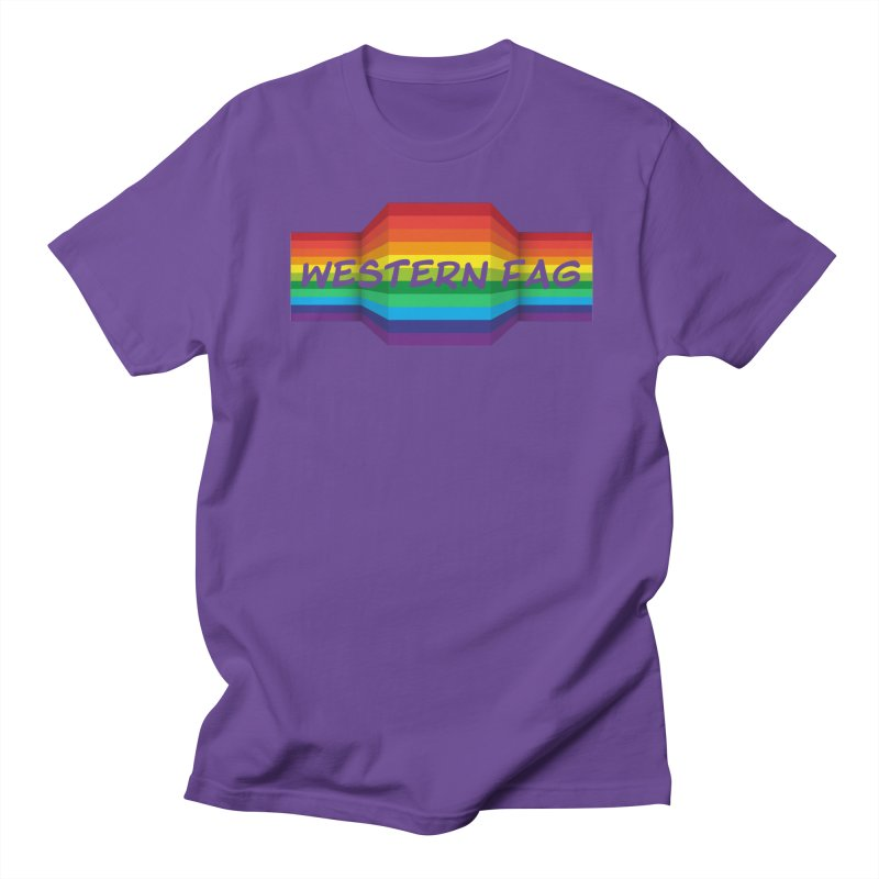 Western Fag Men's Regular T-Shirt by 21 Squirrels Brewery Shop