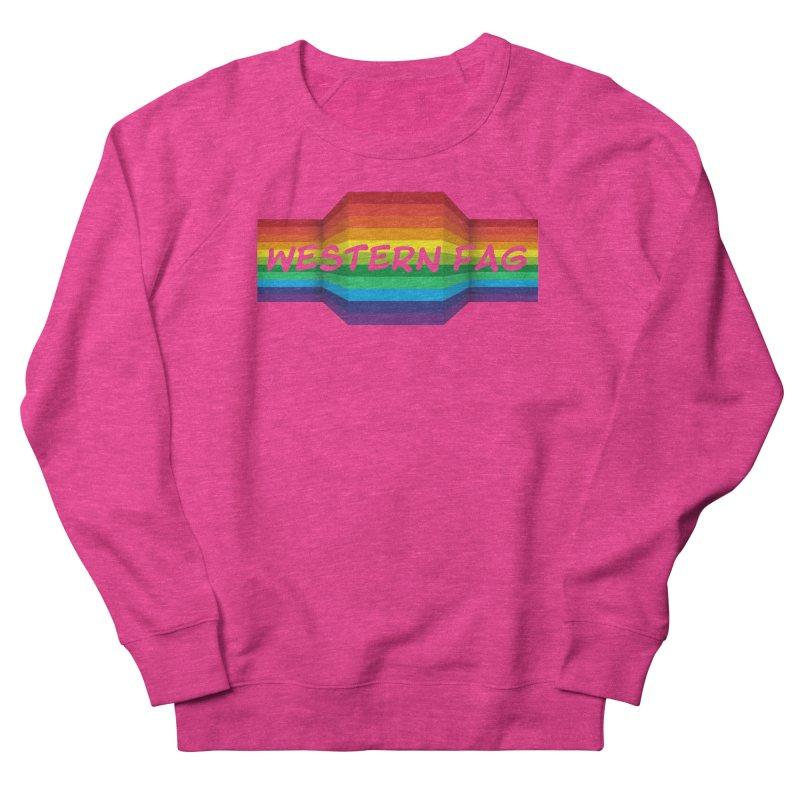 Western Fag Women's French Terry Sweatshirt by 21 Squirrels Brewery Shop
