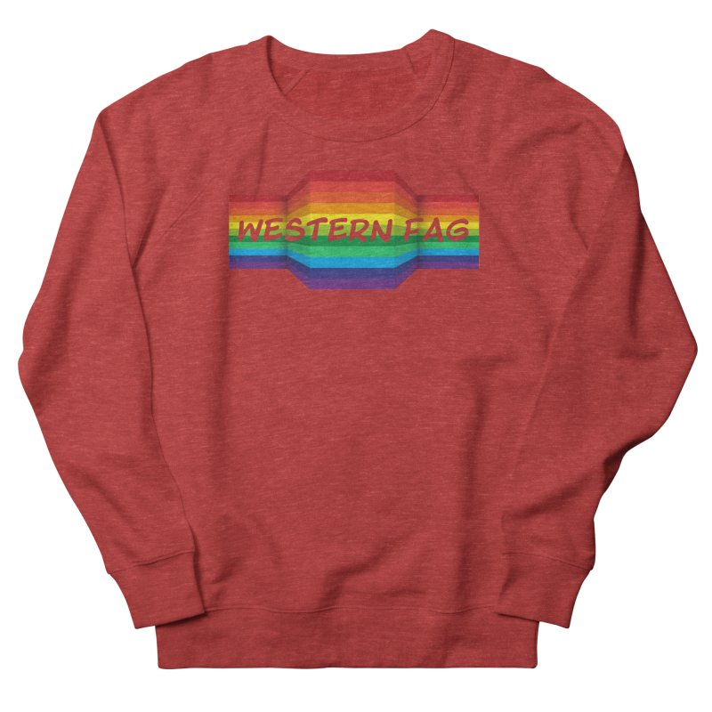 Western Fag Men's French Terry Sweatshirt by 21 Squirrels Brewery Shop