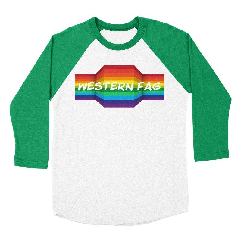 Western Fag Women's Baseball Triblend Longsleeve T-Shirt by 21 Squirrels Brewery Shop