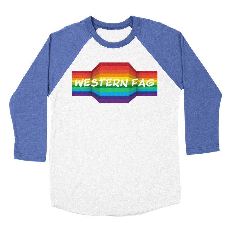 Western Fag Men's Baseball Triblend Longsleeve T-Shirt by 21 Squirrels Brewery Shop