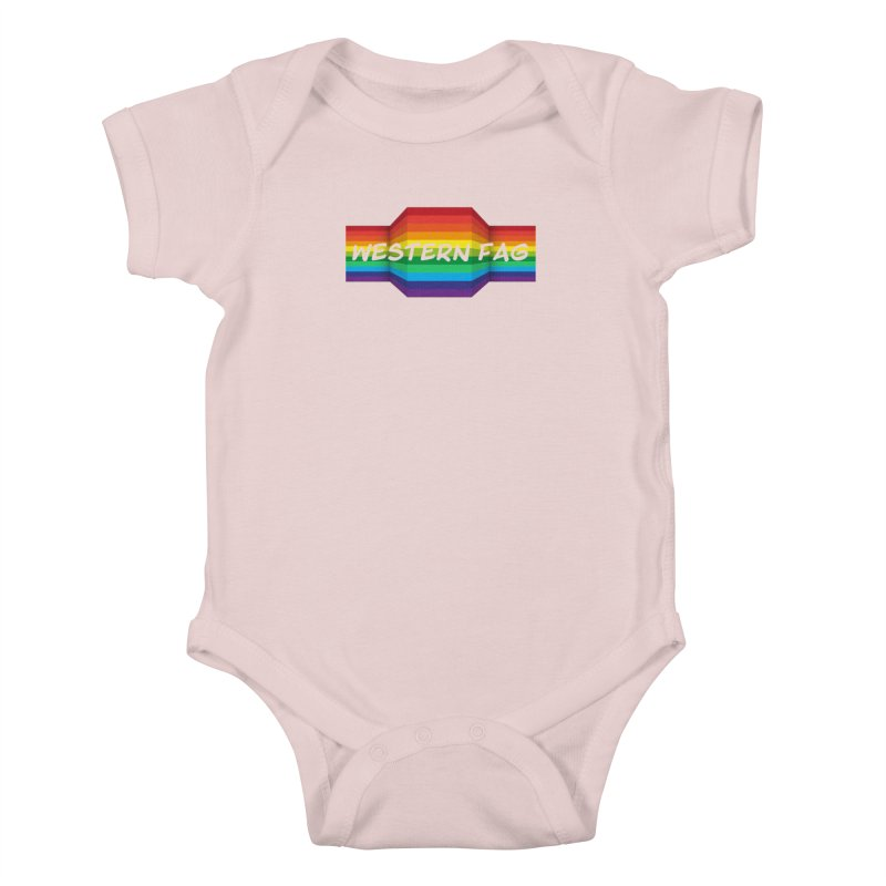 Western Fag Kids Baby Bodysuit by 21 Squirrels Brewery Shop