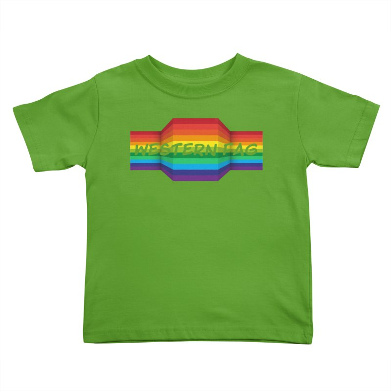 Western Fag Kids Toddler T-Shirt by 21 Squirrels Brewery Shop