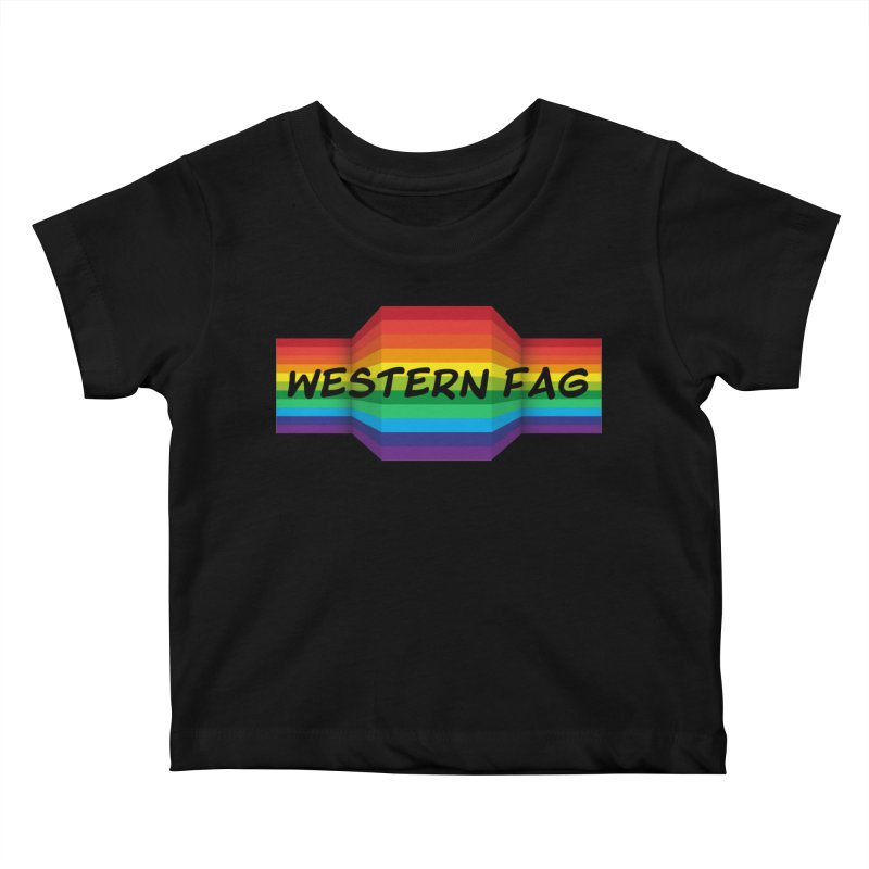 Western Fag Kids Baby T-Shirt by 21 Squirrels Brewery Shop