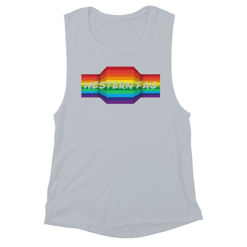 Western Fag Women's Muscle Tank by 21 Squirrels Brewery Shop