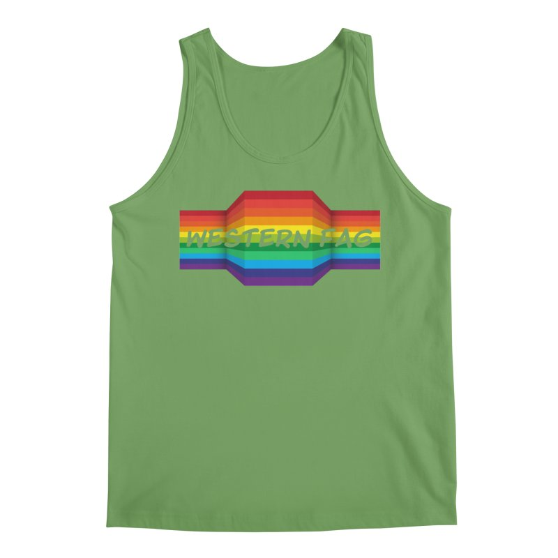 Western Fag Men's Tank by 21 Squirrels Brewery Shop