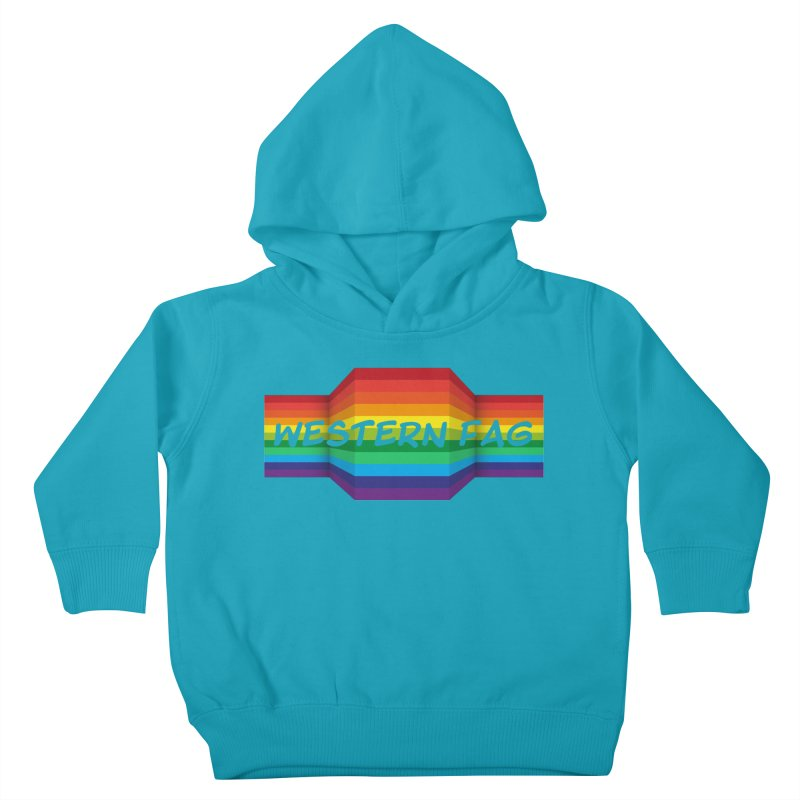 Western Fag Kids Toddler Pullover Hoody by 21 Squirrels Brewery Shop