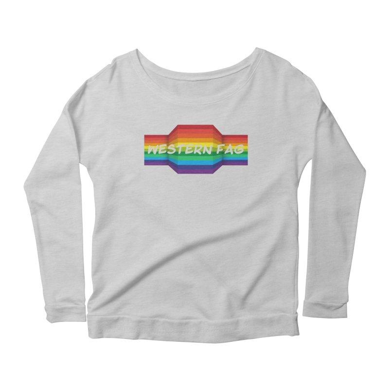 Western Fag Women's Scoop Neck Longsleeve T-Shirt by 21 Squirrels Brewery Shop