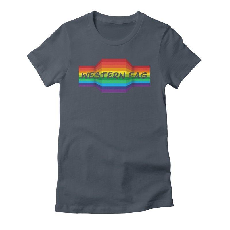 Western Fag Women's T-Shirt by 21 Squirrels Brewery Shop