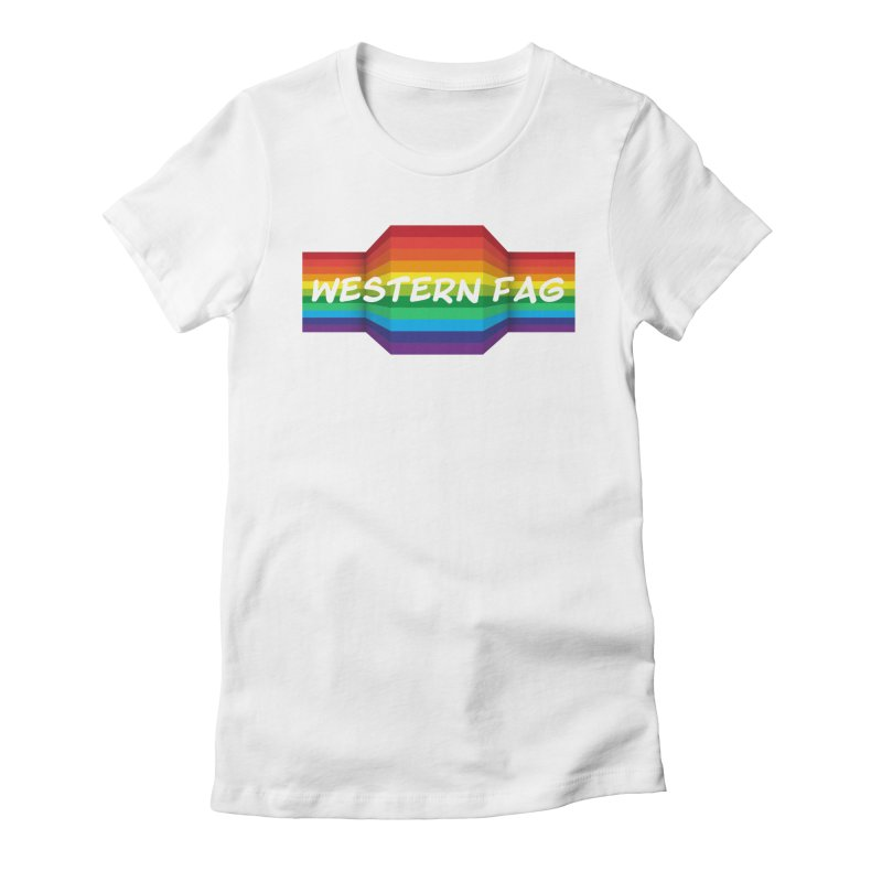 Western Fag Women's Fitted T-Shirt by 21 Squirrels Brewery Shop