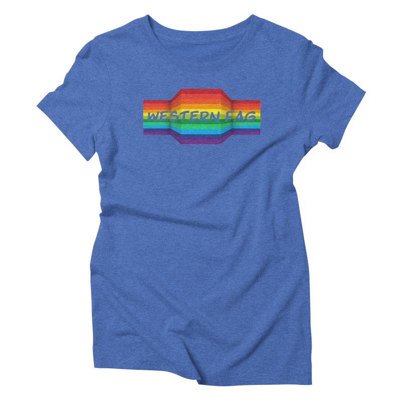 Western Fag Women's Triblend T-Shirt by 21 Squirrels Brewery Shop