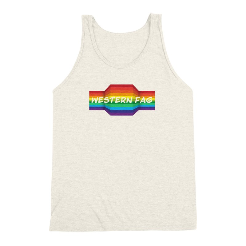 Western Fag Men's Triblend Tank by 21 Squirrels Brewery Shop