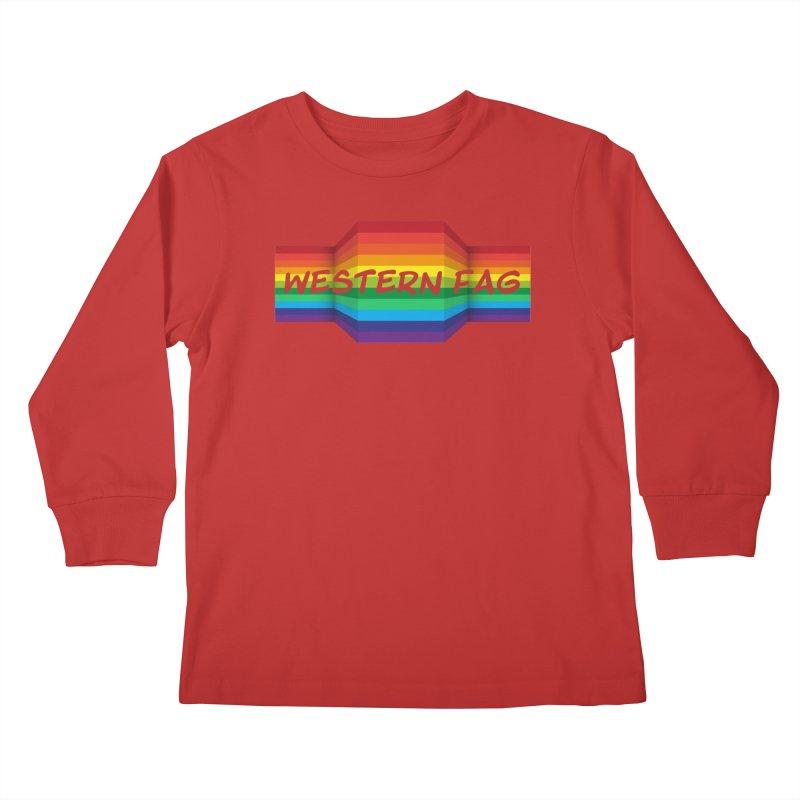 Western Fag Kids Longsleeve T-Shirt by 21 Squirrels Brewery Shop