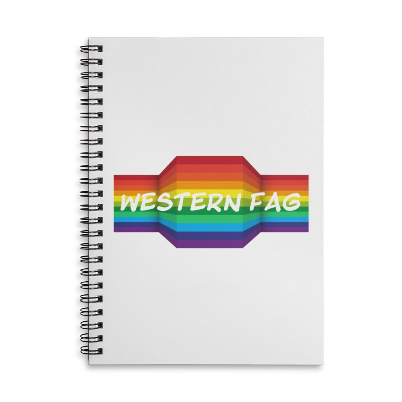 Western Fag Accessories Lined Spiral Notebook by 21 Squirrels Brewery Shop
