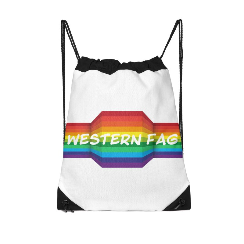 Western Fag Accessories Drawstring Bag Bag by 21 Squirrels Brewery Shop
