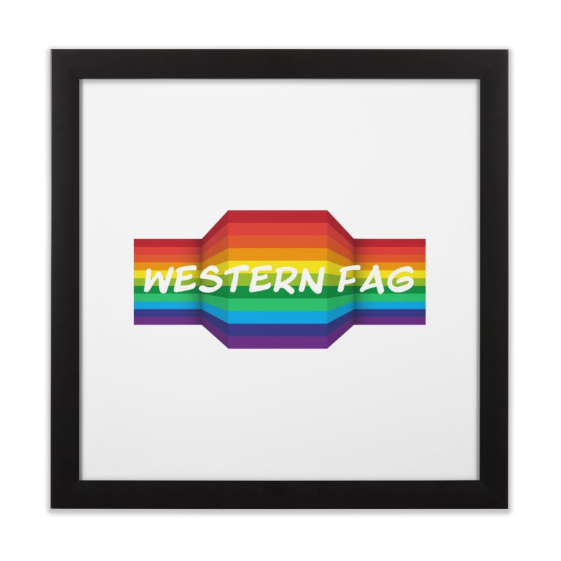 Western Fag Home Framed Fine Art Print by 21 Squirrels Brewery Shop